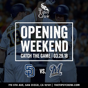downtown san diego gaslamp quarter padres opening day tipsy crow