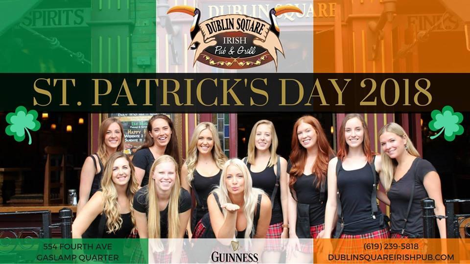 downtown san diego gaslamp quarter saint patricks day dublin square irish pub