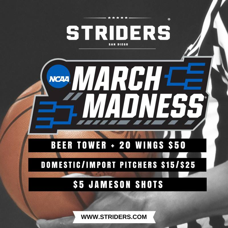 striders-march-madness gaslamp san diego