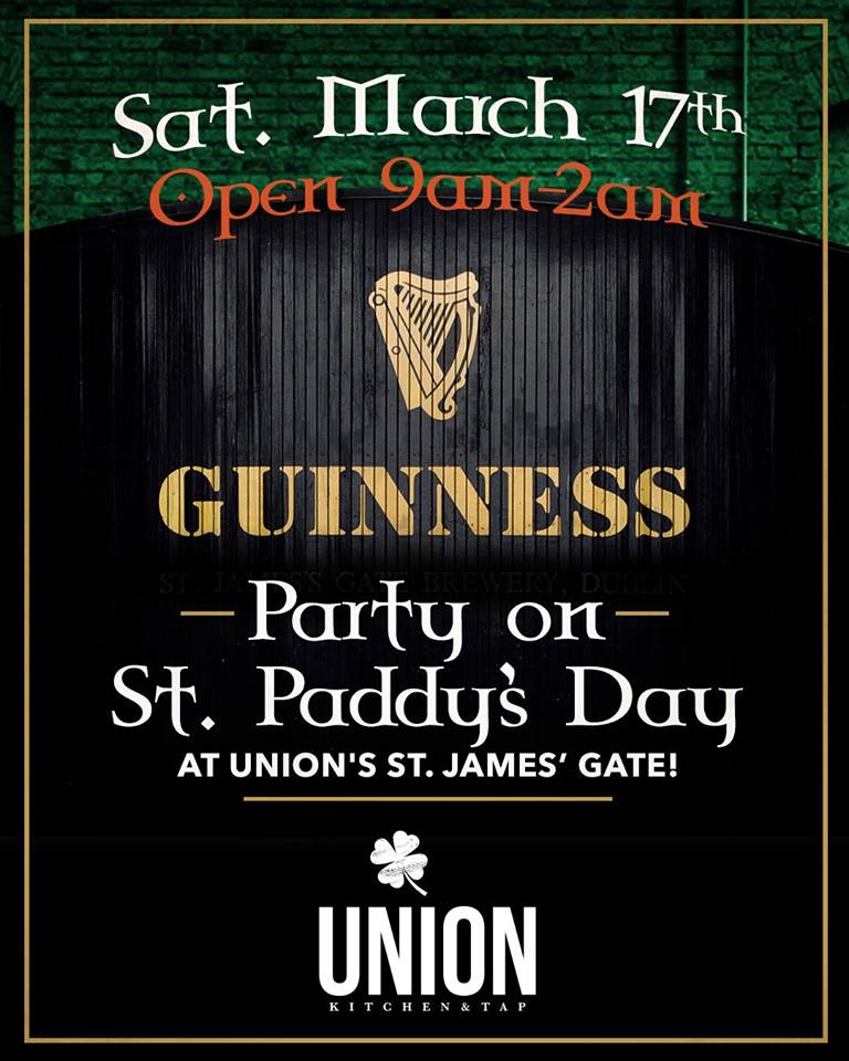 downtown san diego gaslamp quarter saint patricks day union kitchen and tap