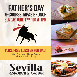 downtown san diego gaslamp quarter father's day cafe sevilla
