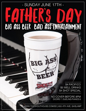 downtown san diego gaslamp quarter father's day shout house