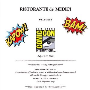 downtown san diego gaslamp quarter comic-con de'medici restaurant