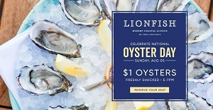 downtown san diego gaslamp quarter national oyster day lionfish