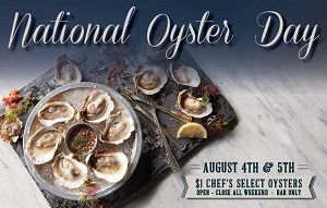 downtown san diego gaslamp quarter national oyster day oceanaire seafood room