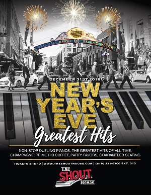 downtown san diego gaslamp quarter new year shout house