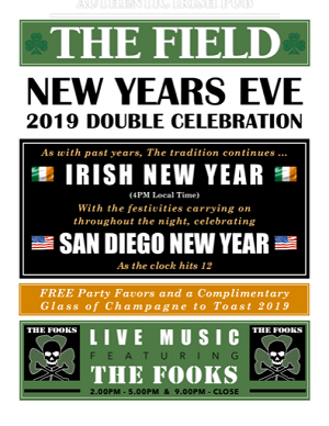 downtown san diego gaslamp quarter new year field irish pub