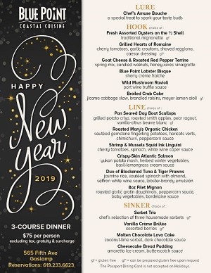 downtown san diego gaslamp quarter new year blue point coastal cuisine