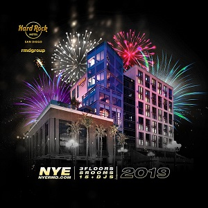 downtown san diego gaslamp quarter new year hard rock hotel