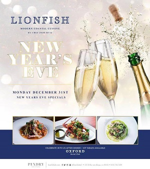 downtown san diego gaslamp quarter new year lionfish coastal cuisine