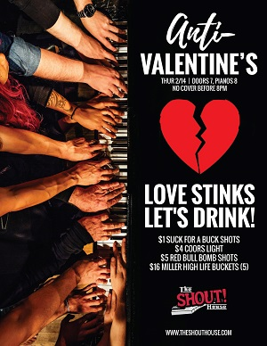 downtown san diego gaslamp quarter valentines day shout house