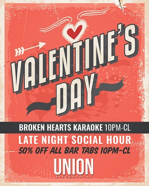 downtown san diego gaslamp quarter valentines day union kitchen and tap