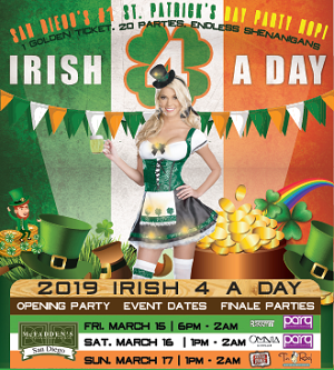 Irish-4-A-Day-St.-Patricks-day gaslamp san diego