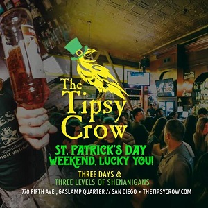 downtown san diego gaslamp quarter st. patrick's day the tipsy crow