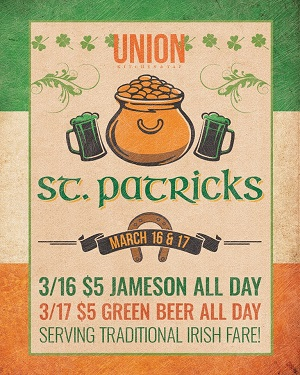 downtown san diego gaslamp quarter st patricks day union kitchen and tap