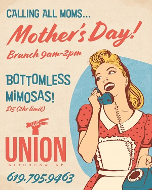 downtown san diego gaslamp quarter mother's day union kitchen and tap