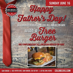 cold-beers-cheeseburgers-fathers-day gaslamp san diego
