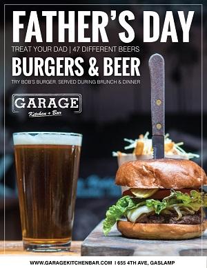 garage-kitchen-bar-fathers-day gaslamp san diego