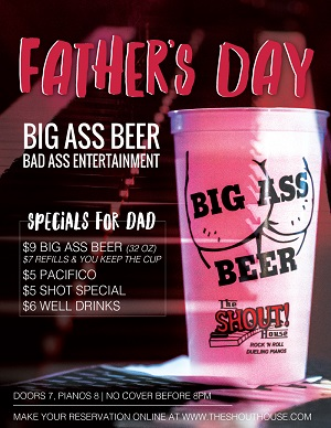 shout-house-fathers-day gaslamp san diego