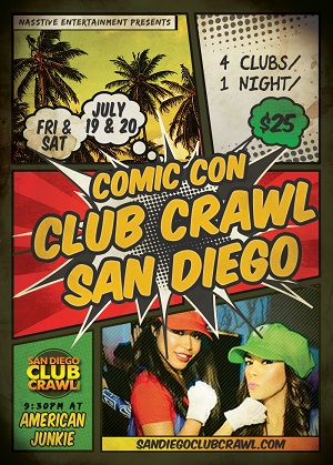 downtown san diego gaslamp quarter comic-con club crawl