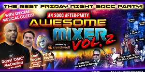 downtown san diego gaslamp quarter comic-con fluxx awesome mixer