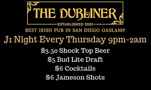 downtown san diego gaslamp quarter things to do dubliner