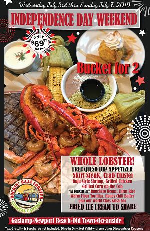 rockin-baja-lobster-july-3-7 gaslamp san diego