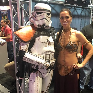 Slave Leia and Storm Trooper