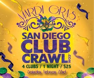 Mardi Gras San Diego Club Crawl