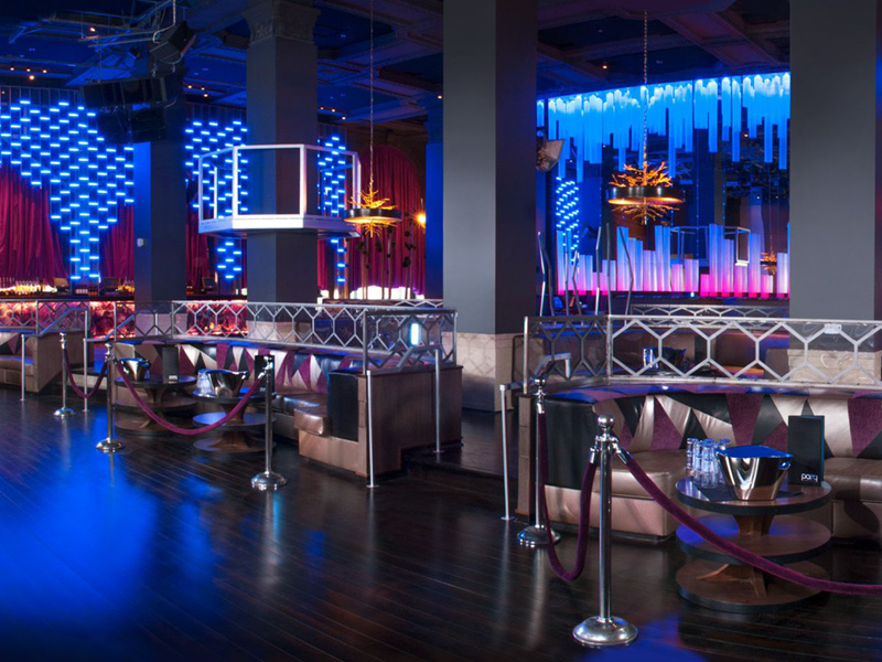 Dance hall and VIP tables @Parq