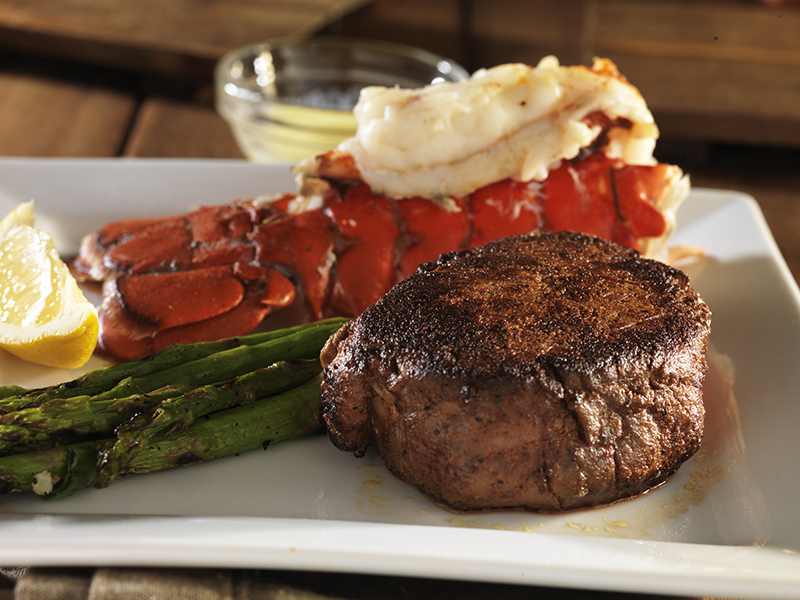 filet mignon steak with lobster tail